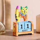 "Деревянный календарь ""Котёнок""7х4х10 см"