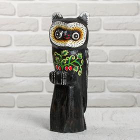 "Souvenir wood ""Owl on branch"" 9x9,5h30 cm"