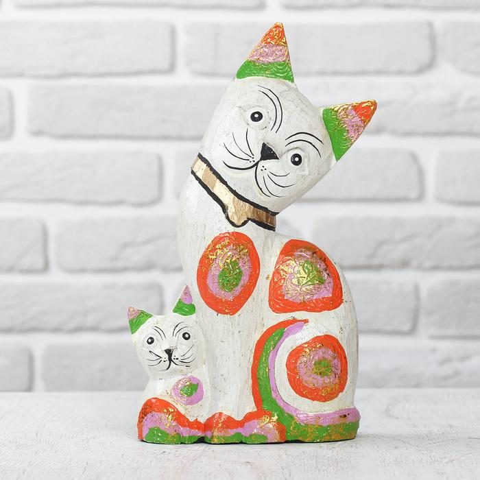 """Сувенир дерево """"Кошка и котик"""" 14х8х25 см"""