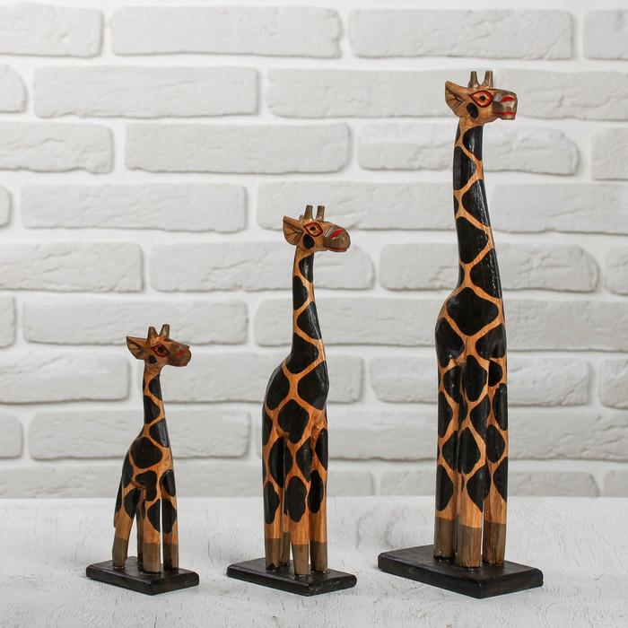 "Сувенирный набор дерево ""Жирафы"" 18х12х40 см"