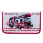 Пенал 1 секция «Пожарная машина», для мальчика,115 х 205, ламинированный картон 3D «Канцбург» 31П26