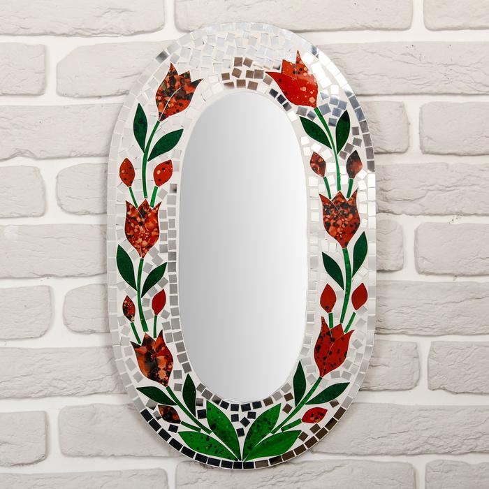 """Панно зеркальное """"Цветы"""" 50х1х30 см"""