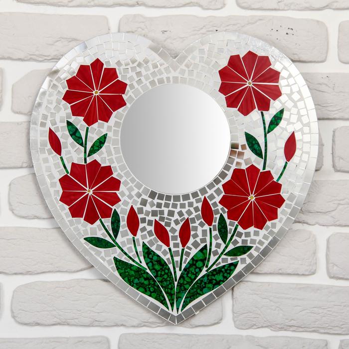 """Панно зеркальное """"Сердце"""" 36х1х37,5 см"""