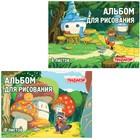 """Альбом для рисования A4, 8 листов на скрепке ПИФАГОР """"В лесу"""""""