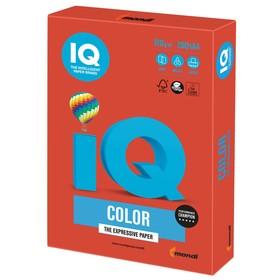 Бумага цветная А4 250 л, IQ COLOR Intensive, 120 г/м2, красная, CO44