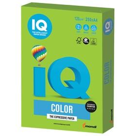 Бумага цветная А4 250 л, IQ COLOR Intensive, 120 г/м2, зеленая, MA42