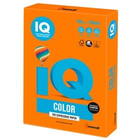 Бумага цветная А4 250 л, IQ COLOR Intensive, 160 г/м2, оранжевая, OR43