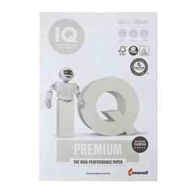 Бумага А4 250 л, IQ Premium, 160 г/м2, белизна 169% CIE, класс А+