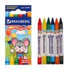Восковые карандаши 6 цветов ПИФАГОР