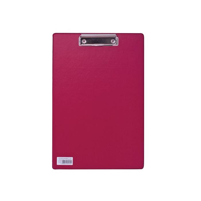 Планшет с прижимом А4 BRAUBERG Comfort, картон/ПВХ, бордовый