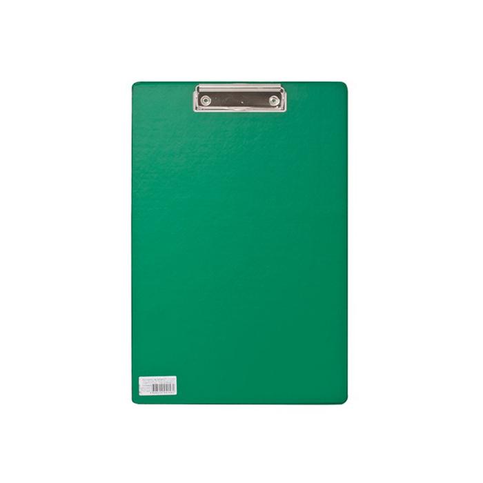 Планшет с прижимом А4 BRAUBERG Comfort, картон/ПВХ, зелёный
