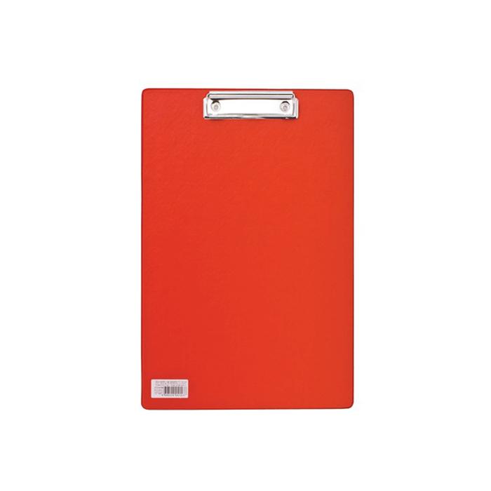 Планшет с прижимом А4 BRAUBERG Comfort, картон/ПВХ, красный