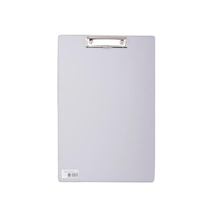 Планшет с прижимом А4 BRAUBERG Comfort, картон/ПВХ, серый