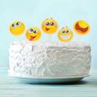 """Топпер в торт """"Смайлики"""", набор 10 шт."""