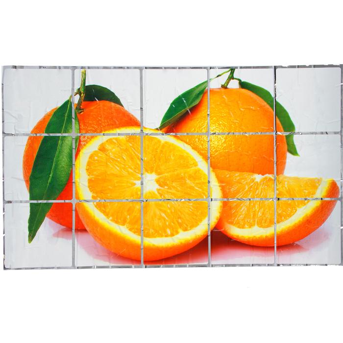 """Наклейка на кафельную плитку """"Апельсины"""" 75х45 см"""