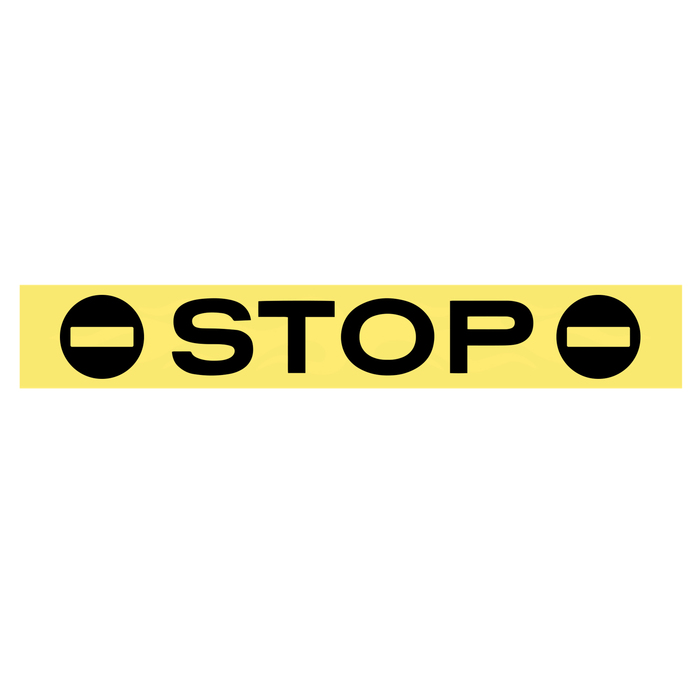 """Наклейка на стоп сигнал на заднее стекло """"STOP"""""""