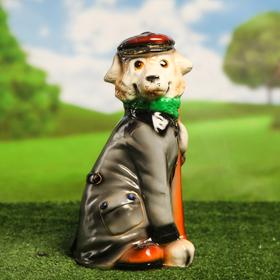 Садовая фигура 'Собака Граф', разноцветный, 37 см, микс Ош