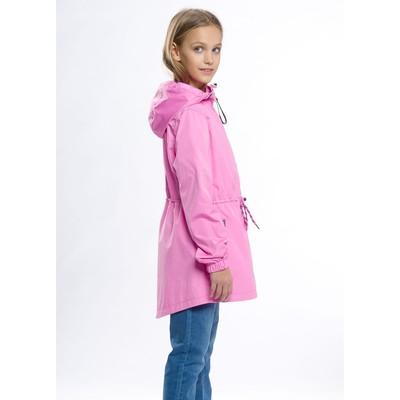 Ветровка для девочки, рост 140 см, цвет розовый