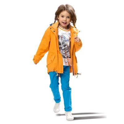 Плащ для девочки, рост 116 см, цвет оранжевый
