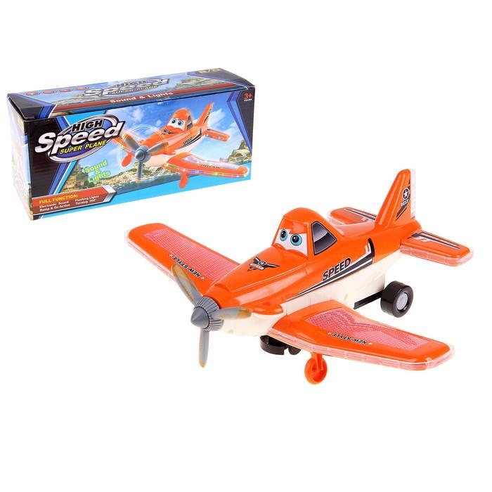 """Самолет с глазками """"Полет"""", работает от батареек, световые и звуковые эффекты"""