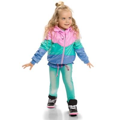 Ветровка для девочки, рост 110 см, цвет розовый