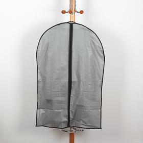 Чехол для одежды плотный Доляна, 59×89 см, PEVA, цвет серый в Донецке