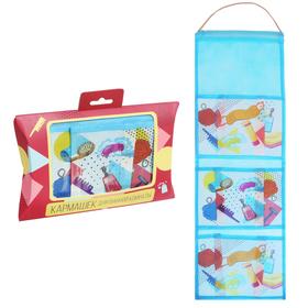 """Кармашки подвесные пластиковые в подарочной упаковке """"Универсальный"""", 3 отделения"""