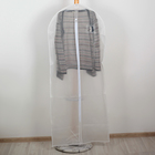Чехол для одежды 60х137 см плотный PEVA, цвет белый