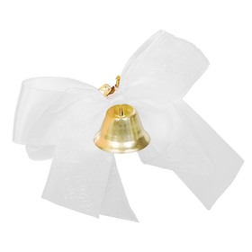 Bell prom with a white organza bow