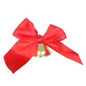 The outlet bell with red bow
