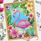 "Вышивка бисером и пайетками ""Фламинго"", 28 х 35 см"