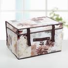 Короб для хранения с крышкой «Астра», 40×30×25 см, цвет коричневый - фото 308331670