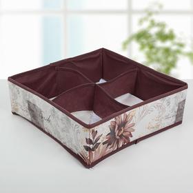 Органайзер для белья «Астра», 4 ячейки, 29×29×10 см