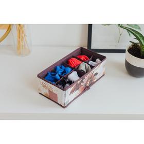 Органайзер для белья «Астра», 8 ячеек, 28×14×10 см Ош