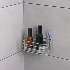 Полка Доляна, 19,5×11×10 см, на вакуумных присосках, металл