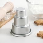 Форма для выпечки мини кексов и тортов 7х7х8 см