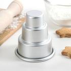 Форма для выпечки мини кексов и тортов 8х8х9 см