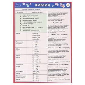 Шпаргалка 'Химия' основные химические формулы Ош