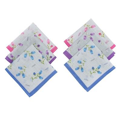 Набор женских носовых платков 45450-13 Etteggy (6шт) 30х30см печать полотняное 66г/м, хл100%   32896