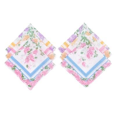 Набор женских носовых платков 45450-2 Etteggy (6шт) 30х30см печать полотняное 66г/м, хл100%   328969