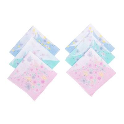 Набор женских носовых платков 45450-5 Etteggy (6шт) 30х30см печать полотняное 66г/м, хл100%   328969
