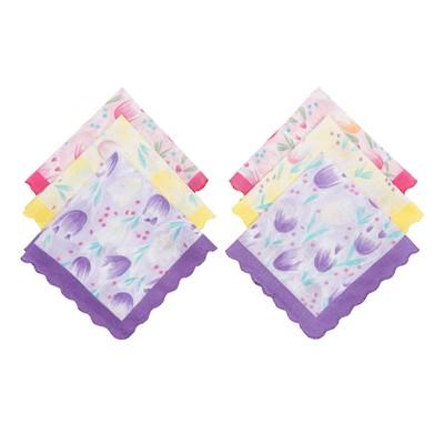 Набор женских носовых платков 45452-9 Etteggy (6шт) 30х30см печать полотняное 66г/м, хл100%   328970