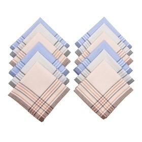 Набор мужских носовых платков Melagrana, 38х38 см- 12шт, жаккард ситец
