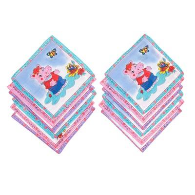 Набор детских носовых платков Melagrana 45014-823 20х20см 12шт ситец 66г/м хл100%
