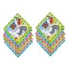 Набор детских носовых платков Melagrana, 20х20 см- 12шт, ситец - фото 105552093