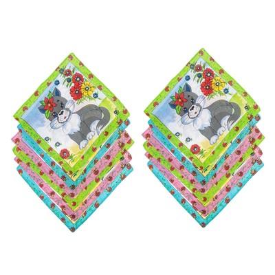 Набор детских носовых платков Melagrana 45014-826 20х20см 12шт ситец 66г/м хл100%