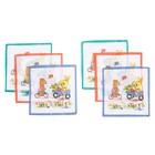 Набор детских носовых платков Etteggy, 25х25 см- 6шт, ситец - фото 105552103