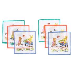 Набор детских носовых платков Etteggy, 25х25 см- 6шт, ситец