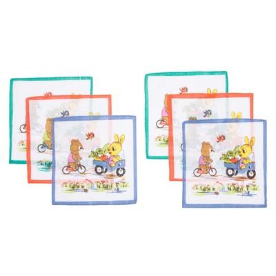 Набор детских носовых платков Etteggy 45453К-13 25х25см 6шт ситец 66г/м, хл100%