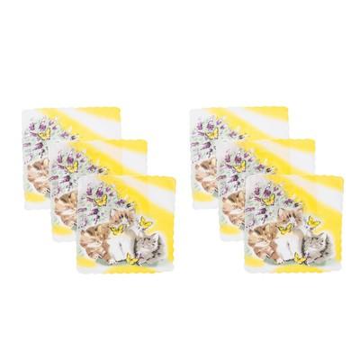 Набор детских носовых платков 45453КС-466 Etteggy (6шт) 25х25см печать полотн. 66г/м, хл100%   32897